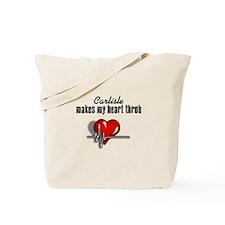 Carlisle makes my heart throb Tote Bag