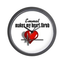 Emmet makes my heart throb Wall Clock