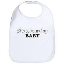 Skateboarding baby Bib