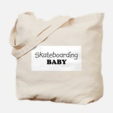 Skateboarding baby Tote Bag