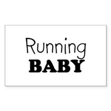Running baby Rectangle Decal