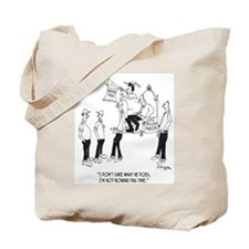 Bowing To The Building Contractor Tote Bag