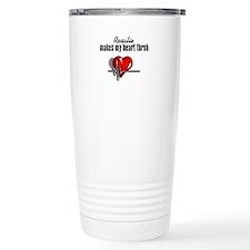 Rosalie makes my heart throb Travel Mug