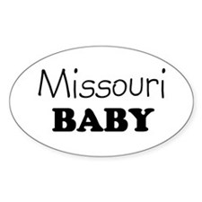 Missouri baby Oval Decal