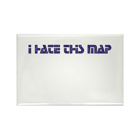 I hate this map Rectangle Magnet (10 pack)