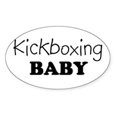 Kickboxing baby Oval Decal