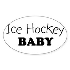 Ice Hockey baby Oval Decal