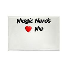 Magic Nerds (heart) Me Rectangle Magnet