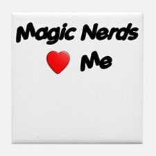 Magic Nerds (heart) Me Tile Coaster
