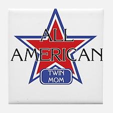 All American Twin Mom Tile Coaster
