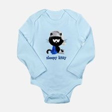 sleepy kitty Long Sleeve Infant Bodysuit