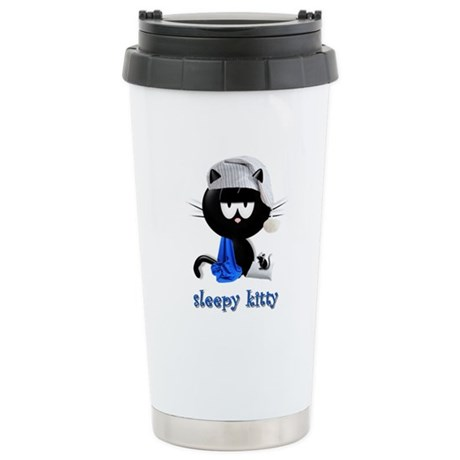 sleepy kitty Stainless Steel Travel Mug