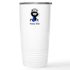 sleepy kitty Travel Coffee Mug