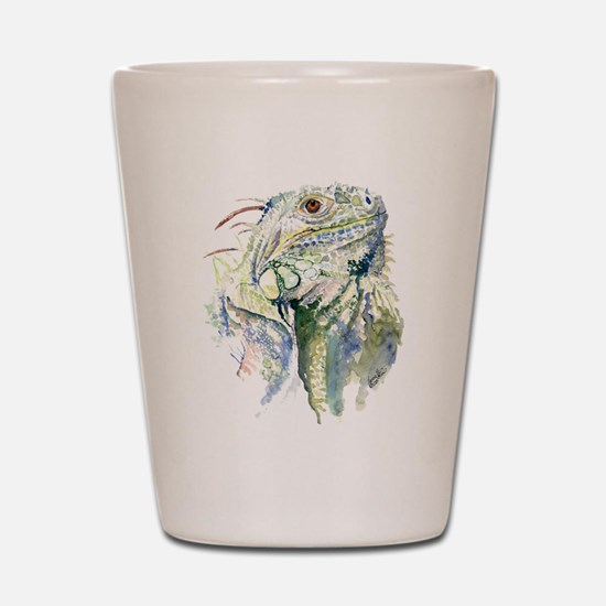 Rex the Iguana Shot Glass