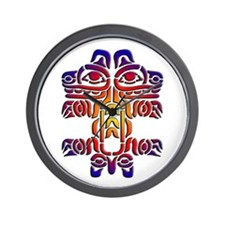 Cute Native american indian pacific northwest Wall Clock