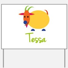 Tessa The Capricorn Goat Yard Sign