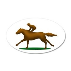 Horse Jumping 35x21 Oval Wall Decal