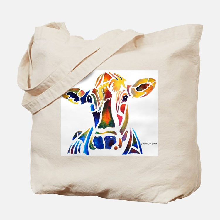 Whimzical Original Cow Art Tote Bag
