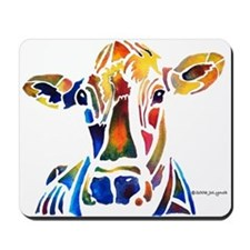 Whimzical Original Cow Art Mousepad