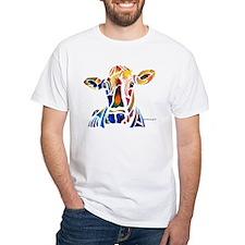 Whimzical Original Cow Art Shirt