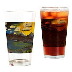 Valley Lake sunset decor/gift Drinking Glass
