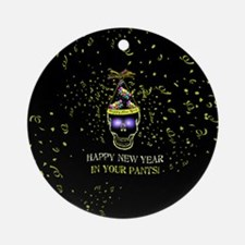 Happy New Year Pants Ornament (Round)