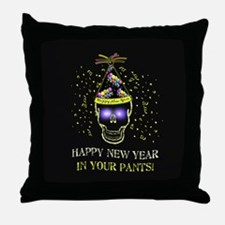 Happy New Year Pants Throw Pillow