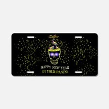 Happy New Year Pants Aluminum License Plate