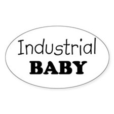 Industrial baby Oval Decal
