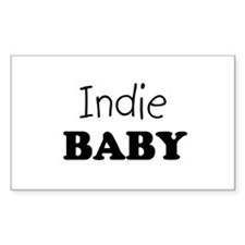 Indie baby Rectangle Decal