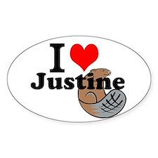 justine beaver Decal