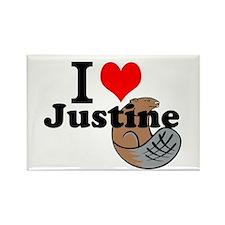 justine beaver Rectangle Magnet
