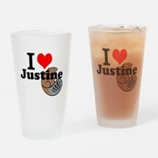 justine beaver Drinking Glass