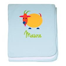Maura The Capricorn Goat baby blanket