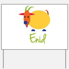 Enid The Capricorn Goat Yard Sign