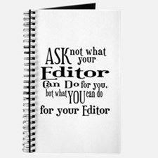 Ask Not Editor Journal