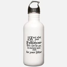 Ask Not Editor Water Bottle