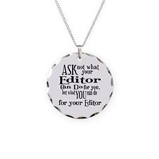 Ask Not Editor Necklace