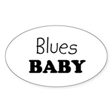 Blues baby Oval Decal