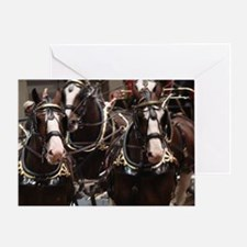 Clydesdale Four-Horse Hitch Greeting Card