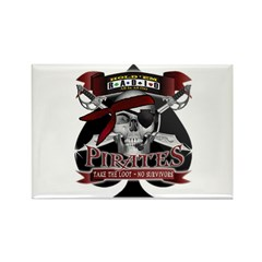 pirate logo Rectangle Magnet (10 pack)