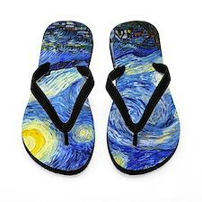Van Gogh - Starry Night Flip Flops