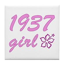 1937 Girl Tile Coaster