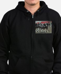 Clydesdale Four-Horse Hitch Zip Hoodie