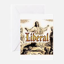 Jesus square.png Greeting Card