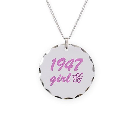 1947 Girl Necklace Circle Charm