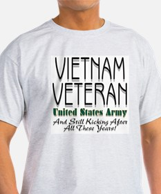 Still Kicking Vietnam Vet Arm Ash Grey T-Shirt