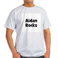 Aidan Rocks Ash Grey T-Shirt