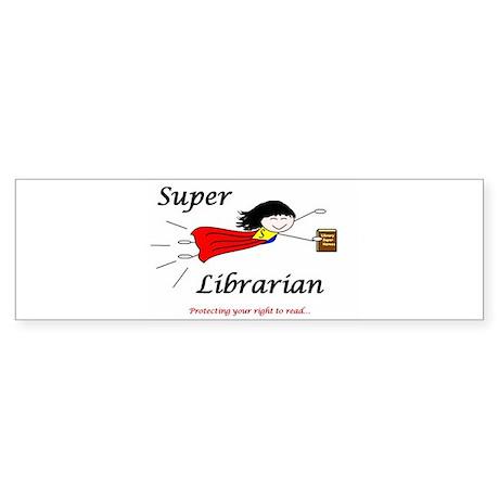 Super Librarian Bumper Sticker