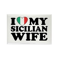 I Love My Sicilian Wife Rectangle Magnet